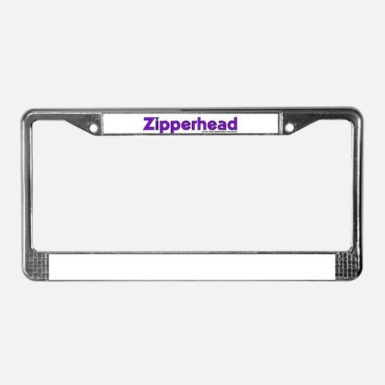 Zipperhead License Plate Frame