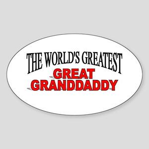 """The World's Greatest Great Granddaddy"" Sticker (O"