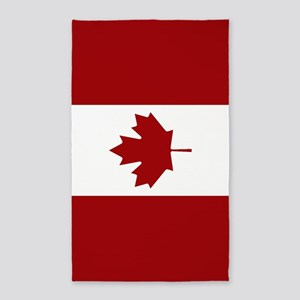 Canada: Canadian Flag (Red & White) Area Rug