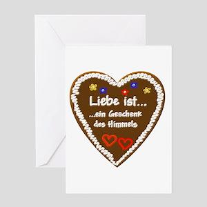 Liebe ist... 5 Greeting Card