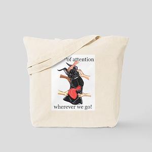 CBlk CenterOfAttention Great Dane Tote Bag
