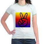103. rainbow peace.. Jr. Ringer T-Shirt