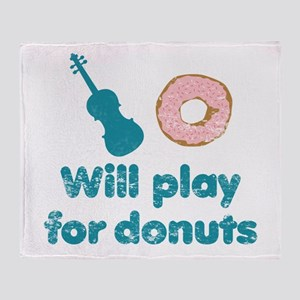 Will Play for Donuts Throw Blanket