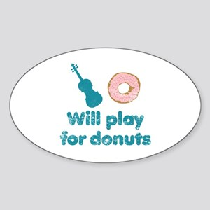 Will Play for Donuts Sticker (Oval)
