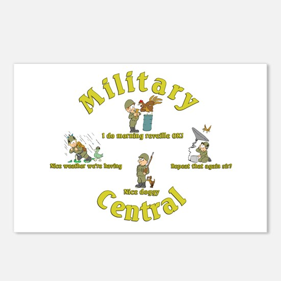 Military Central.Animal Capers.:-) Postcards (Pack