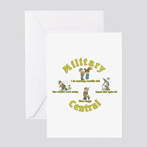 Military Central.Animal Capers.:-) Greeting Card