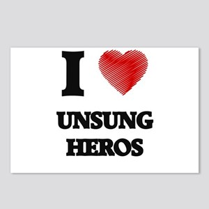 I love Unsung Heros Postcards (Package of 8)