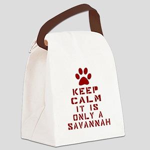 Keep Calm It Is Savannah Canvas Lunch Bag