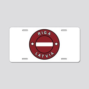Riga Latvia Aluminum License Plate