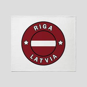 Riga Latvia Throw Blanket