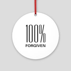 100% Forgiven Ornament (Round)