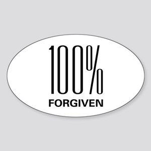 100% Forgiven Oval Sticker