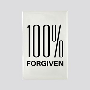 100% Forgiven Rectangle Magnet