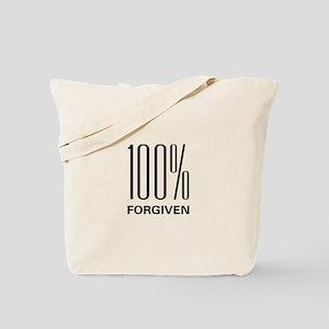 100% Forgiven Tote Bag