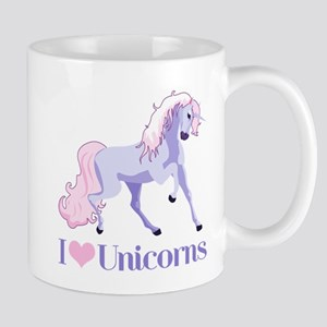 I Heart Unicorns Large Mugs