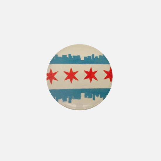Unique Chicago flag Mini Button