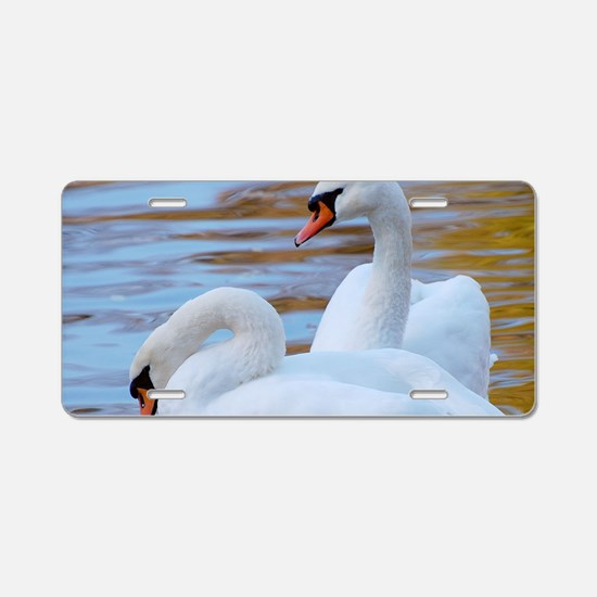 Beautiful Swans Aluminum License Plate
