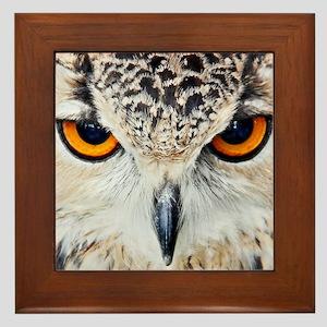 Owl Head Framed Tile