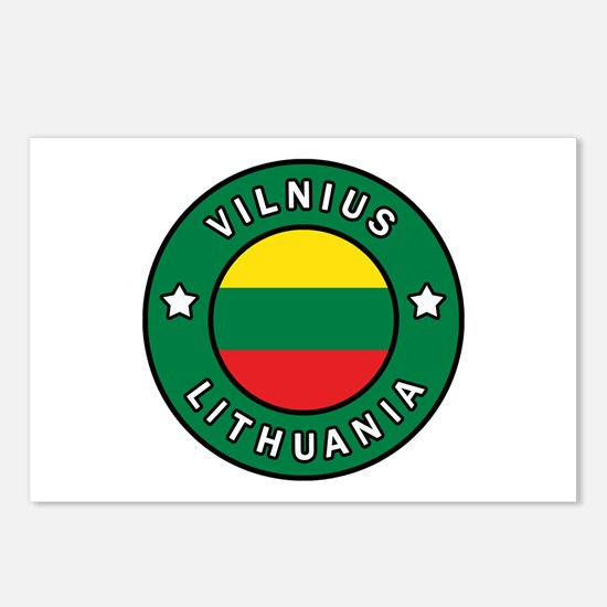 Vilnius Lithuania Postcards (Package of 8)