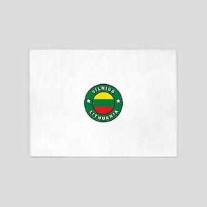 Vilnius Lithuania 5'x7'Area Rug