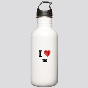 I love Us Stainless Water Bottle 1.0L