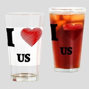 I love Us Drinking Glass