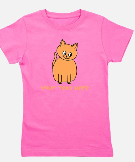 Orange Cat, Custom Text. T-Shirt