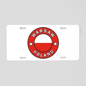 Warsaw Poland Aluminum License Plate