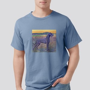Great Dane Blue Art Scene Women's Dark T-Shirt