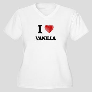 I love Vanilla Plus Size T-Shirt