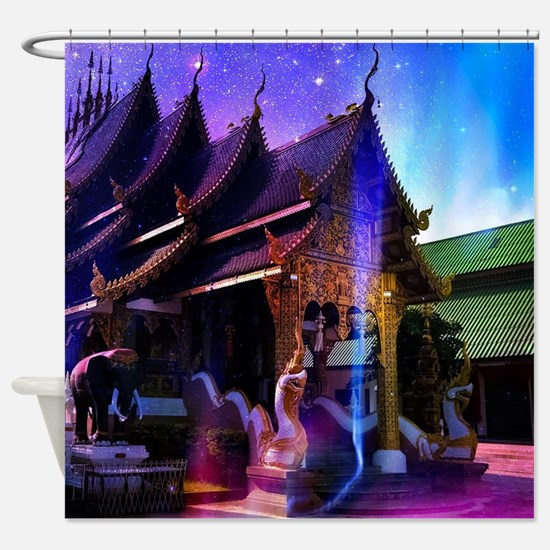 Throughout Time and Space Shower Curtain