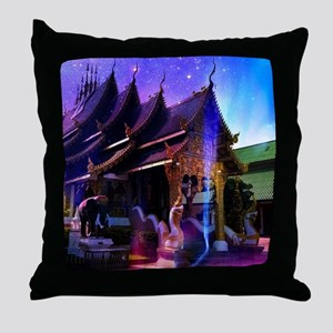 Throughout Time and Space Throw Pillow