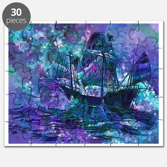 Surreal Pirate Ship Puzzle