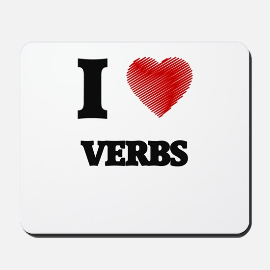 I love Verbs Mousepad