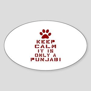Keep Calm It Is Punjabi Cat Sticker (Oval)