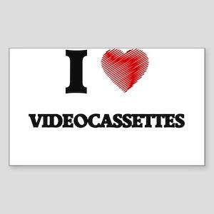 I love Videocassettes Sticker