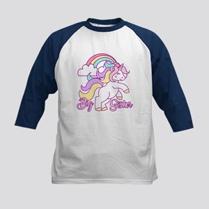 Big Sister Unicorn Kids Baseball Jersey