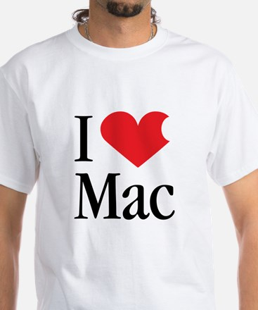 I Love Mac heart products White T-Shirt