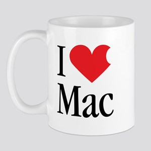 I Love Mac heart products Mug