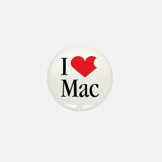 I Love Mac heart products Mini Button