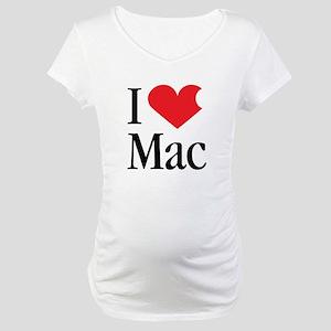 I Love Mac heart products Maternity T-Shirt