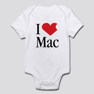 I Love Mac heart products Infant Bodysuit