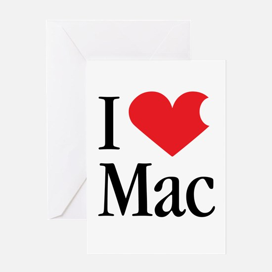 I Love Mac heart products Greeting Card