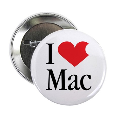 I Love Mac heart products Button
