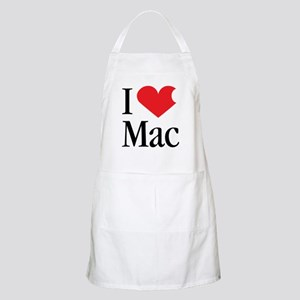 I Love Mac heart products BBQ Apron