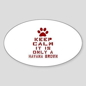 Keep Calm It Is Havana Brown Cat Sticker (Oval)