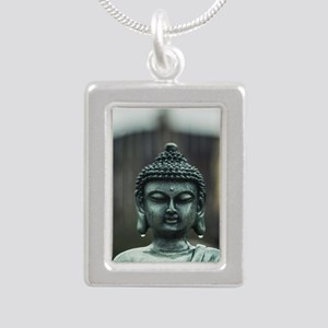 Silver Portrait Necklace