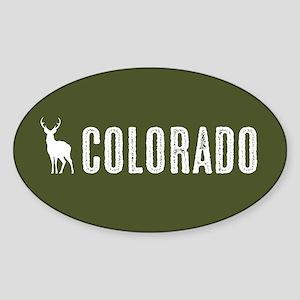 Deer: Colorado Sticker (Oval)