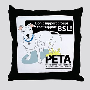 Pit Bull PETA BSL Throw Pillow
