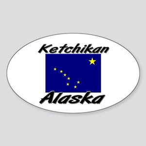 Ketchikan Alaska Oval Sticker